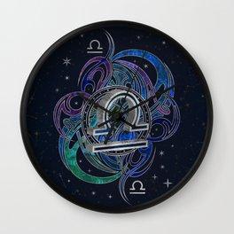 Libra Zodiac Sign Air Element Wall Clock