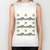 bikes Biker Tanks featuring Bikes Pattern by Christina Rollo