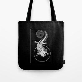 Space Axolotl (white) Tote Bag