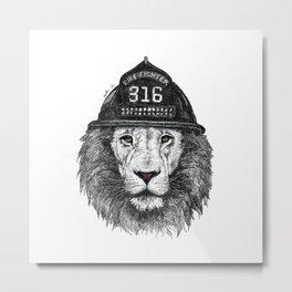 316_Lion Metal Print