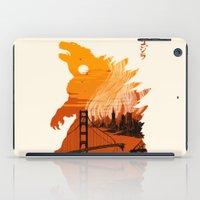 godzilla iPad Cases featuring Godzilla  by tim weakland
