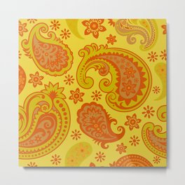 BIG PAISLEY  | yellow russet Metal Print