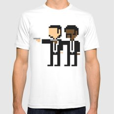 Pulp Pixel Mens Fitted Tee White SMALL