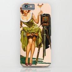 Vintage Camera Pinup girl  iPhone 6s Slim Case