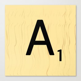 Scrabble A Decor, Scrabble Art Prints, Large Scrabble Prints, Word Wall Art, Home Decor, Wall Decor Canvas Print