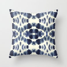 BOHEMIAN INDIGO BLUE Throw Pillow