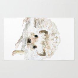 Watercolor Hedgehog Painting - Woodland Animal Art Rug
