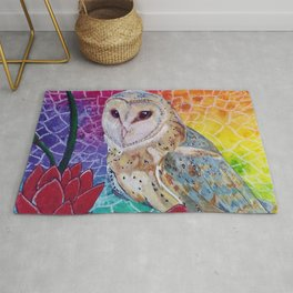 Lakshmi's Vahana ( Bird Whisperer Project Owl ) Rug