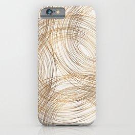 Metallic Circle Pattern iPhone Case