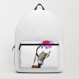 Goose funny farm animal illustration Backpack