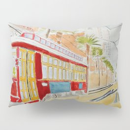 New Orléans Tramway Pillow Sham