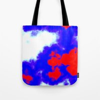 patriotic Tote Bags featuring Patriotic Sky by Christy Leigh