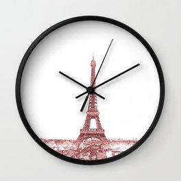 Paris Eiffel Tower Series II by Billy Bernie Wall Clock