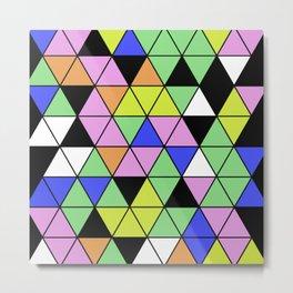 Pastel Triangles - Pastel themed, geometric, abstract, triangular pattern Metal Print