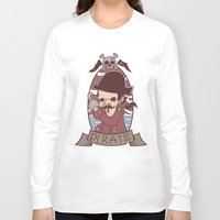 pirate Long Sleeve T-shirts featuring Pirate by Jelot Wisang