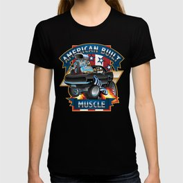 American Built Muscle - Classic Muscle Car Cartoon Illustration T-shirt