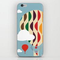 ballon iPhone & iPod Skins featuring hot air ballon by BruxaMagica_susycosta