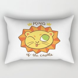 Baby Big Cats King of the Castle Lion Rectangular Pillow