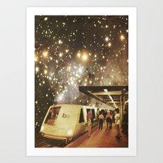 Enter the night  Art Print