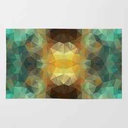 Kaleidoscopic design in bright colors Rug