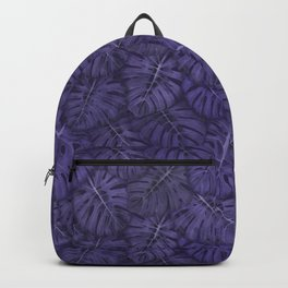ULTRA VIOLET MONSTERA, by Frank-Joseph Backpack