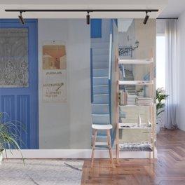 Blue Door - Milos - Landscape and Rural Art Photography Wall Mural