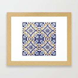 OPorto tile Framed Art Print