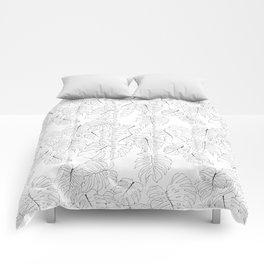Monstera Deliciosa (Delicious Monster Leaves) Comforters