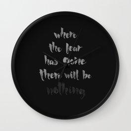 Litany Against Fear Wall Clock