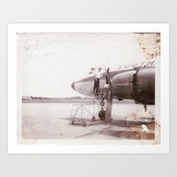 plane Art Prints featuring plane by Beth Gilmore