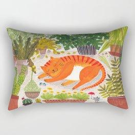 The Ginger Cat of leisure Rectangular Pillow