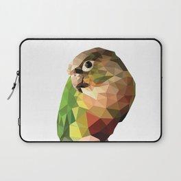 Geometric green cheek conure Laptop Sleeve