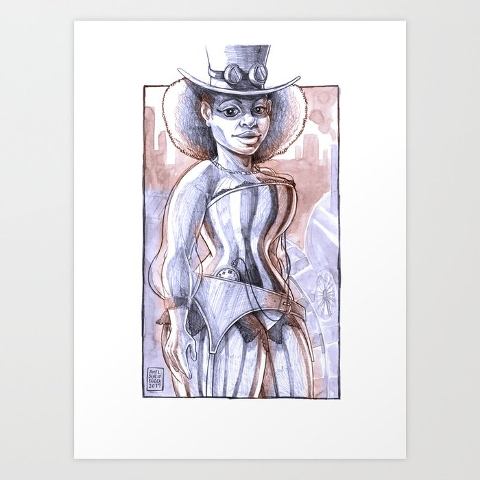 Industrial Revolution Outfit Art Print