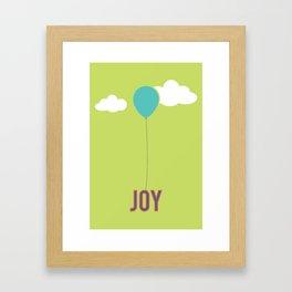 What Are We For: Joy Framed Art Print