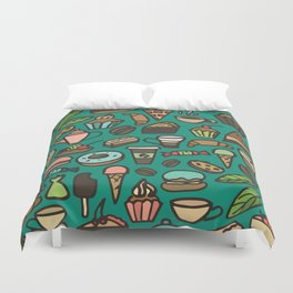 Coffee and pastry  Duvet Cover