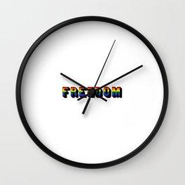 LGBT FREEDOM Wall Clock
