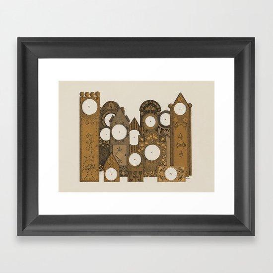Points in time Framed Art Print