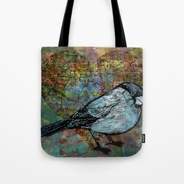 Mixed Media Bird 2 Tote Bag