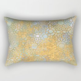 gold arabesque vintage geometric pattern Rectangular Pillow
