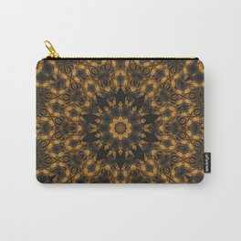 Abstract Kaleidoscope Brown Marble Mandala Carry-All Pouch