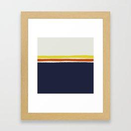 Simple Desert Night Stripes Framed Art Print