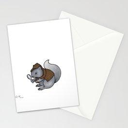 Squirrel-lock Holmes Stationery Cards