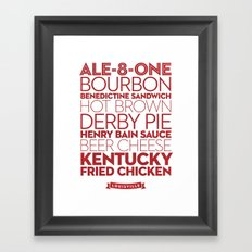 Louisville — Delicious City Prints Framed Art Print