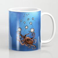 octopus Mugs featuring Octopus by Anna Shell