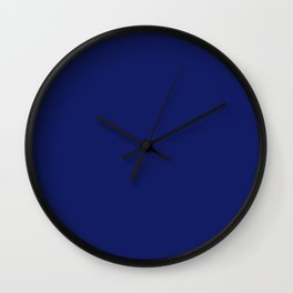 Dark Blue Solid Color Collection Wall Clock