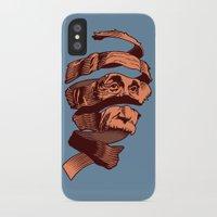 escher iPhone & iPod Cases featuring E=M.C. Escher by Tom Burns