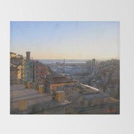 Tramonto a Genova Throw Blanket