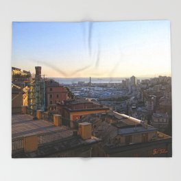 Tramonto a Genova Throw Blanket