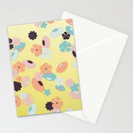 falling spring flowers Stationery Cards