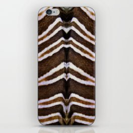 whit and brown pattern iPhone Skin